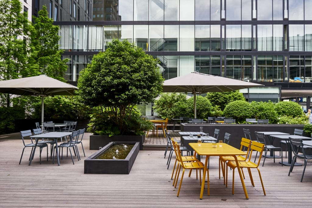 the terrace area of Blakes Lounge Rotterdam