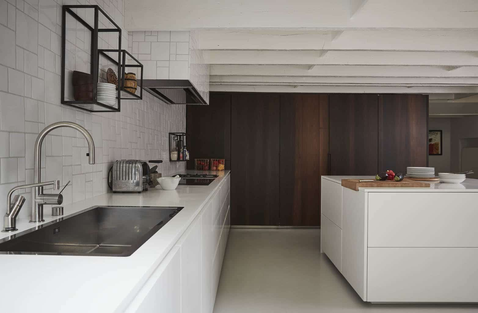 boffi white kitchen interior