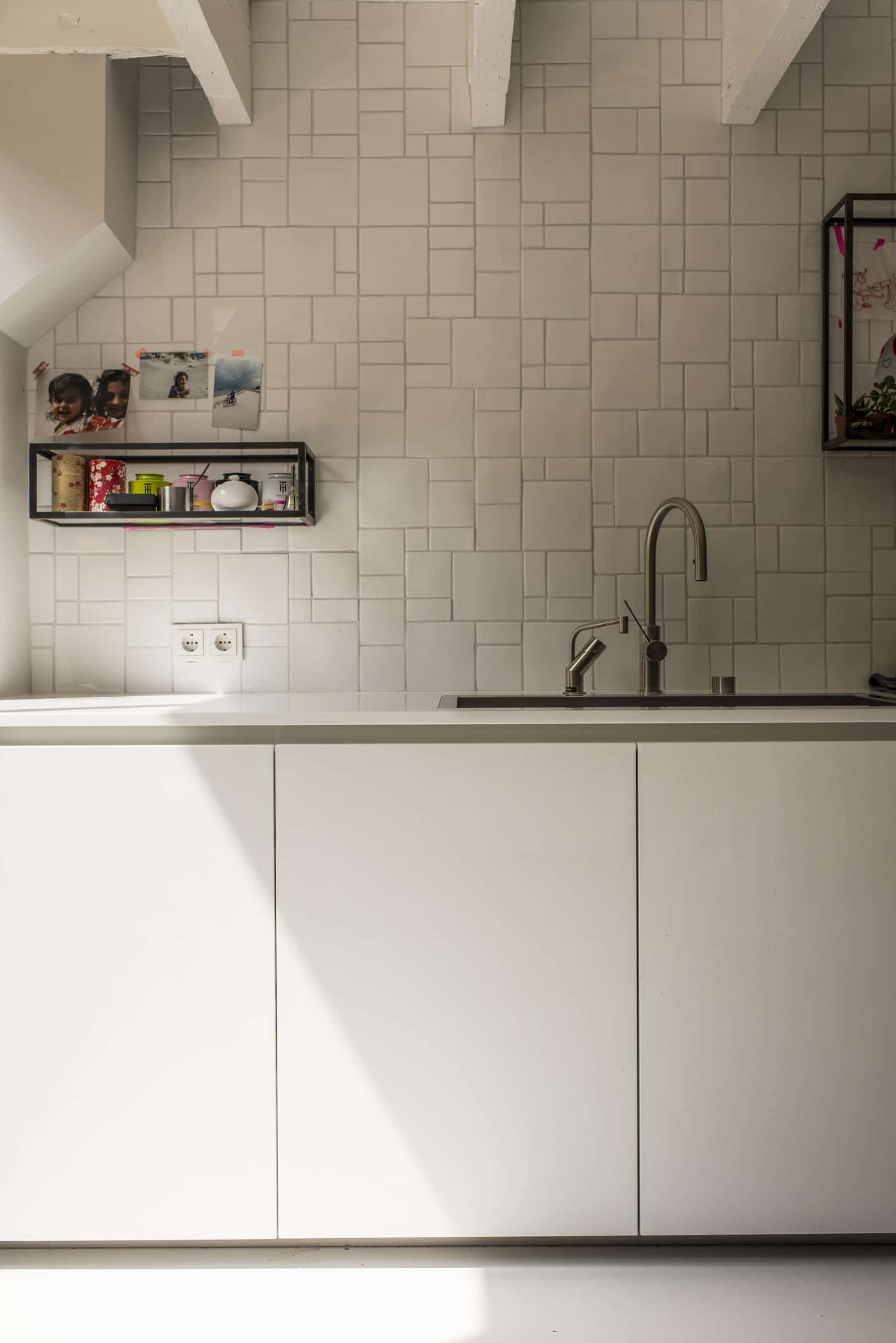white Boffi kitchen