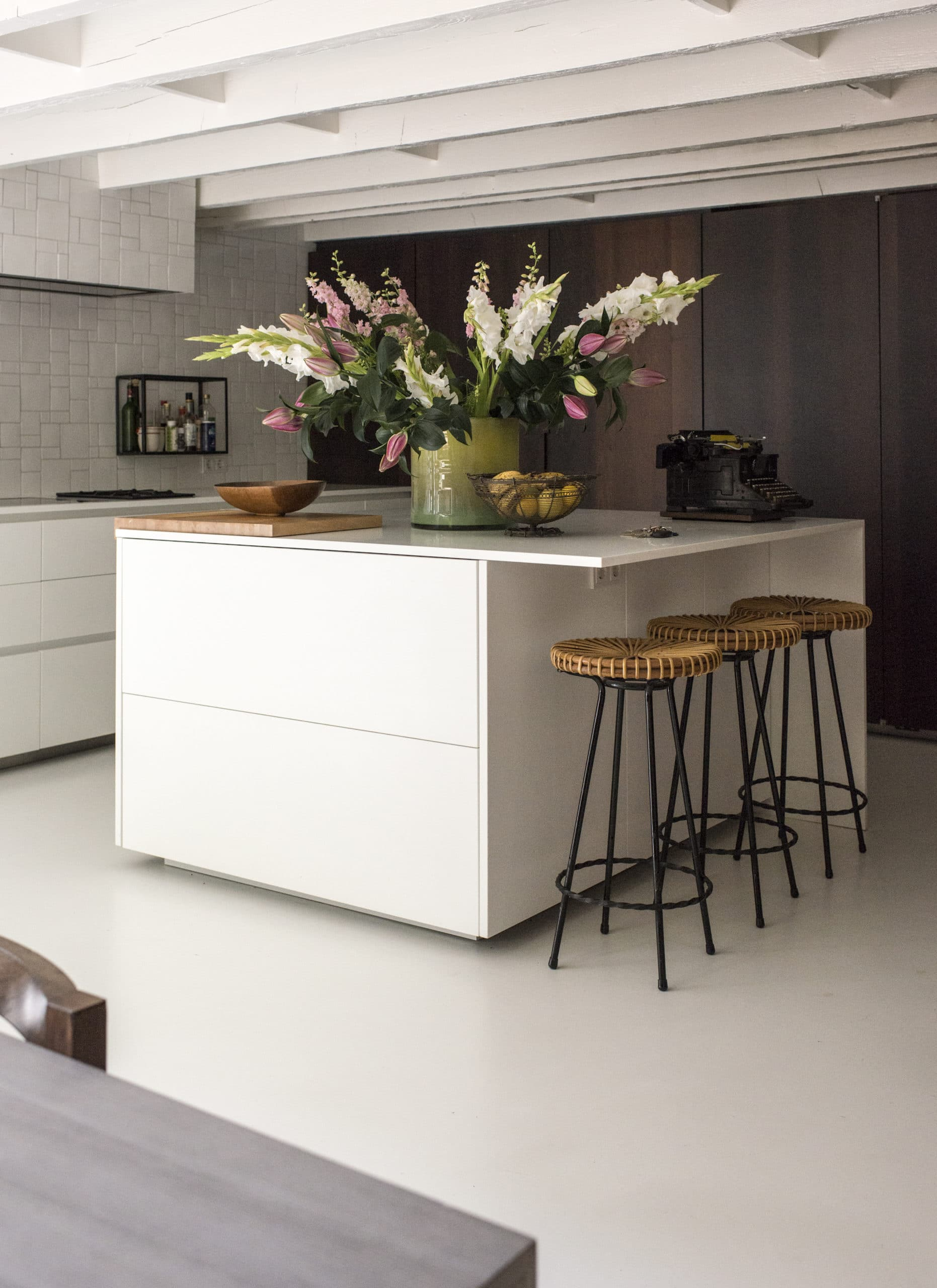 photo of Boffi kitchen with stools